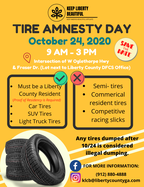 Tire Amnesty Day Flyer