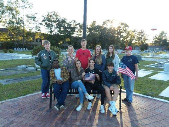 4H kids veterans day