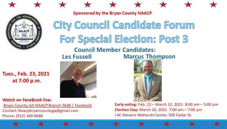city council forum flyer