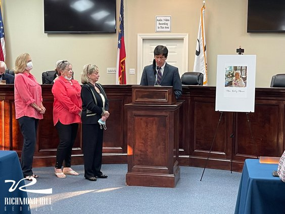 Betty Miner honored by council
