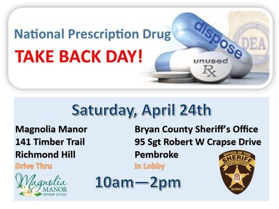 drug take back day 2021