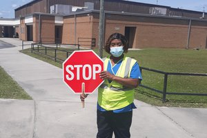 Richmond Hill High School crossing guard Sybil White.