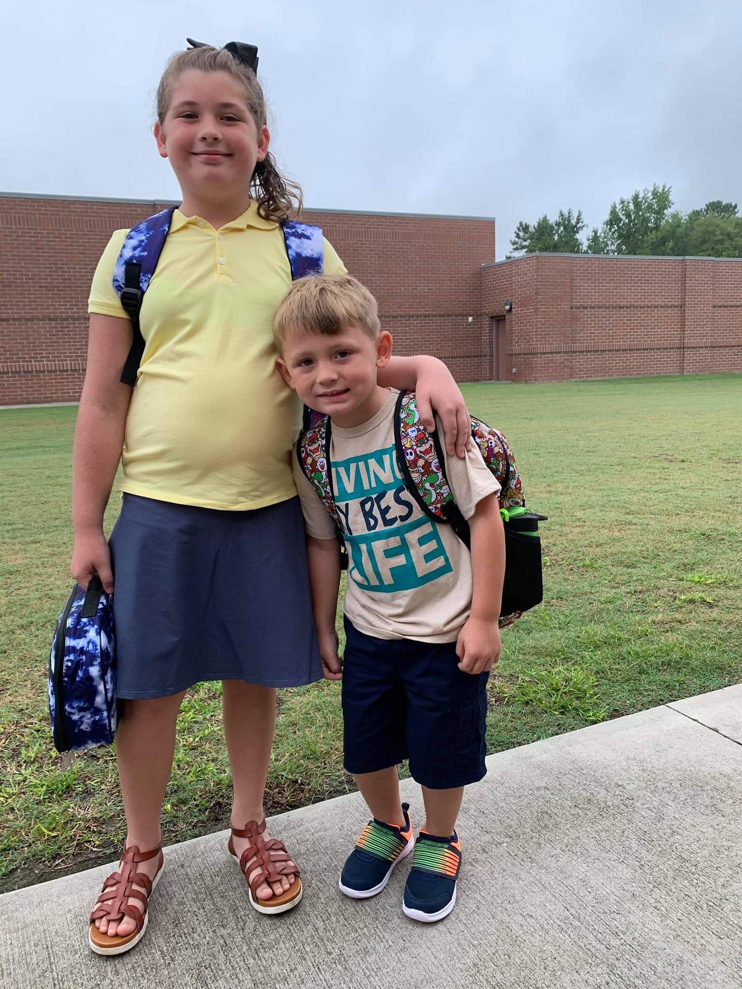 Elizabeth & Pierce Waters, 4th grade and kindergarten, BCES.jpg
