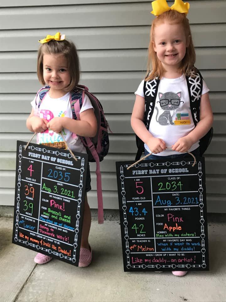 Harper Woodham, Kindergarten, Hadley Woodham, Pre-K, both BCES.jpg