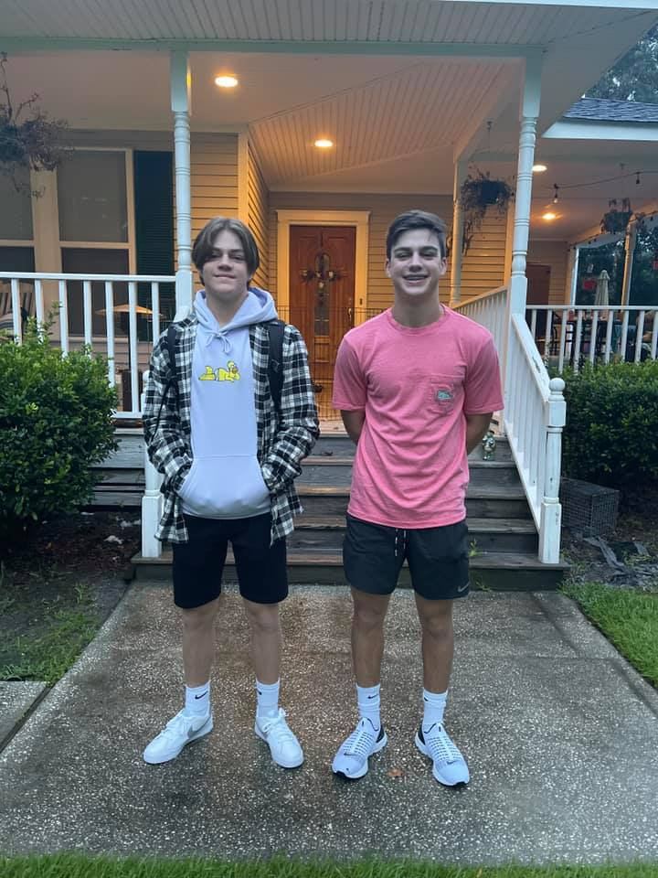 Joseph and William Gibson, junior and freshman, RHHS.jpg