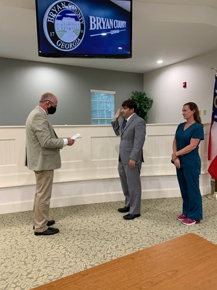 Andrew Johnson sworn in as commissioner