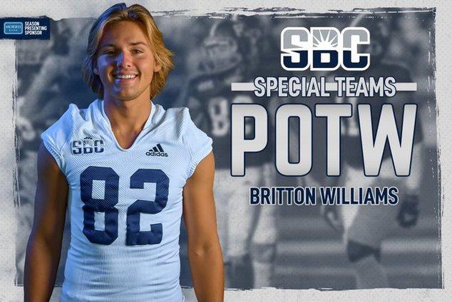 RH Britton Williams POTW